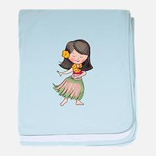 HULA DANCER baby blanket