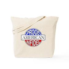 Patriotic American Infidel Tote Bag