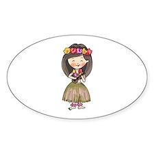 Hula Dancer Bumper Stickers