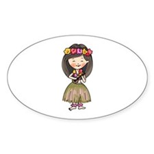 Hula Dancer Decal