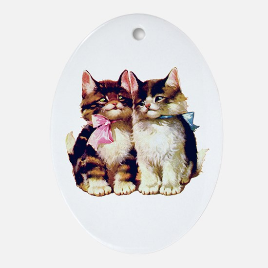 CATS MEOW Oval Ornament