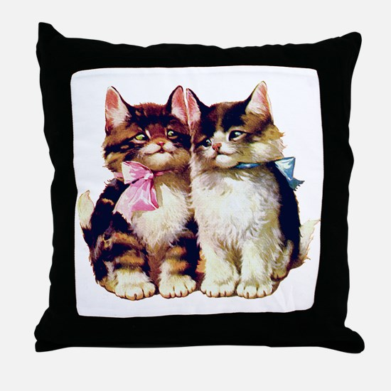 CATS MEOW Throw Pillow