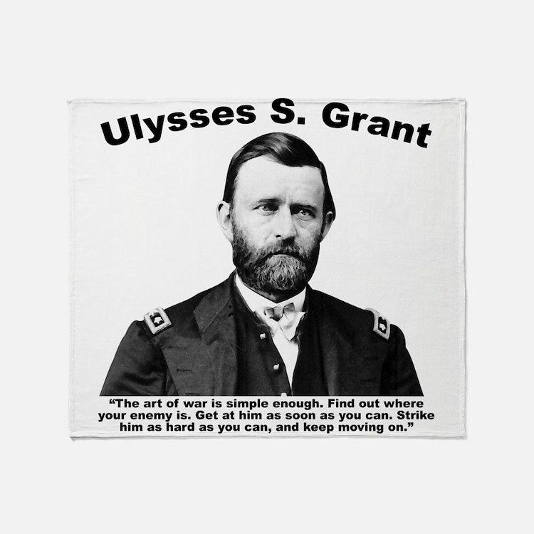 Grant: ArtWar Throw Blanket