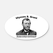 Grant: Unconditional Oval Car Magnet