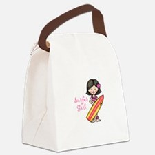 Surfer Girl Canvas Lunch Bag