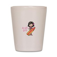 Surfer Girl Shot Glass