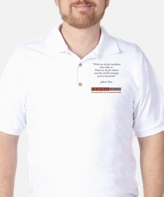 ALBERT PINE QUOTE Golf Shirt