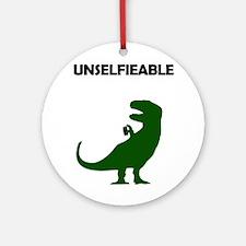 Unselfieable T-Rex Ornament (Round)