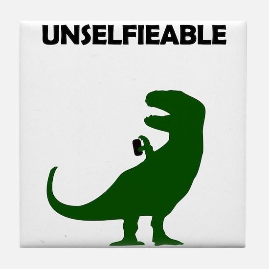 Unselfieable T-Rex Tile Coaster