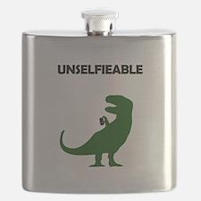 Unselfieable T-Rex Flask
