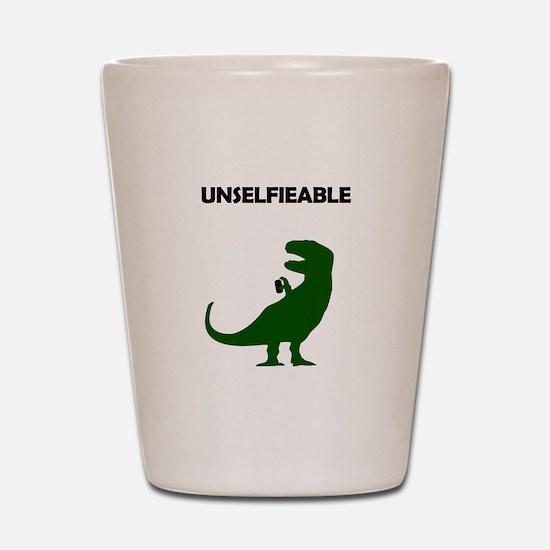 Unselfieable T-Rex Shot Glass
