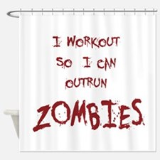 Outrun Zombies 1 Shower Curtain