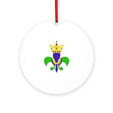 MARDI GRAS FLEUR DE LIS Ornament (Round)