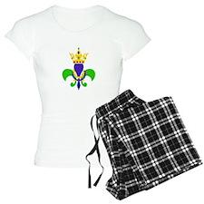 MARDI GRAS FLEUR DE LIS Pajamas