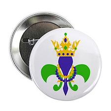 """MARDI GRAS FLEUR DE LIS 2.25"""" Button (10 pack)"""