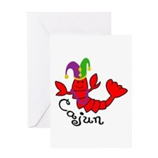 MARDI GRAS CAJUN CRAWFISH Greeting Cards