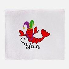 MARDI GRAS CAJUN CRAWFISH Throw Blanket
