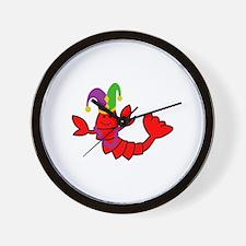 MARDI GRAS CRAWFISH Wall Clock