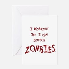 Outrun Zombies 1 Greeting Cards