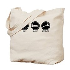 Eat Sleep Litigate Tote Bag