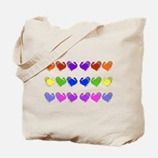 Rainbow Thanksgiving Turkeys Tote Bag