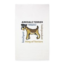 AIREDALE TRAITS Area Rug