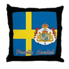 Proudly Swedish Throw Pillow