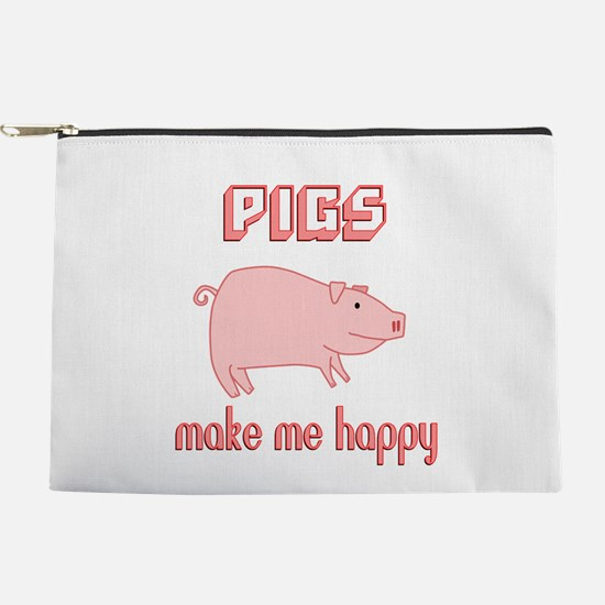 Pigs Make Me Happy Makeup Pouch