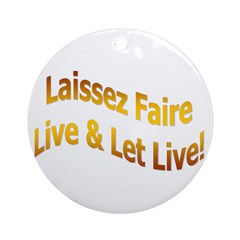 Laissez Faire-Gold Ornament (Round)