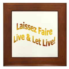 Laissez Faire-Gold Framed Tile