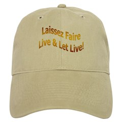 Laissez Faire-Gold Baseball Cap