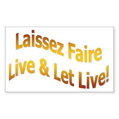 Laissez Faire-Gold Rectangle Decal
