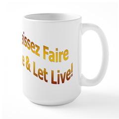 Laissez Faire-Gold Large Mug