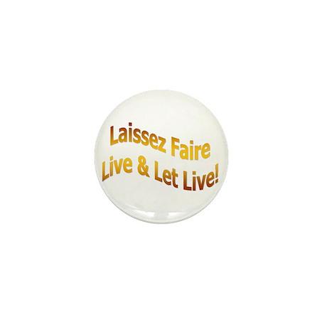 Laissez Faire-Gold Mini Button (100 pack)
