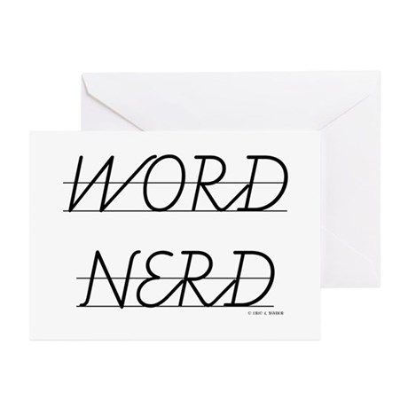 Word Nerd School Letters Greeting Cards Package By