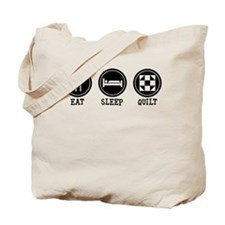 Eat Sleep Quilt Tote Bag