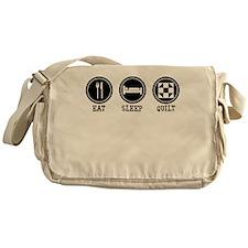 Eat Sleep Quilt Messenger Bag
