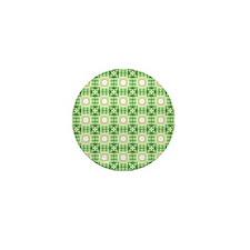 Green quilt pattern Mini Button
