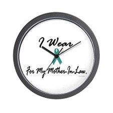 I Wear Teal For My Mother-In-Law 1 Wall Clock