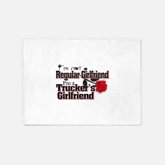 Not a Regular Girlfriend - Trucker 5'x7'Area Rug