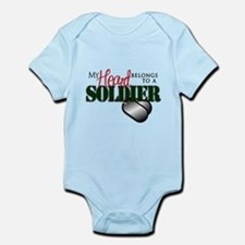 Heart Belong to Soldier Body Suit