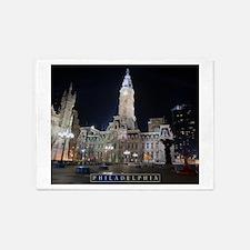 Philadelphia - City Hall. 5'x7'Area Rug