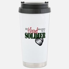 Heart Belong to Soldier Travel Mug