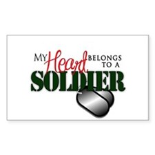 Heart Belong to Soldier Decal