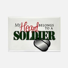 Heart Belong to Soldier Magnets