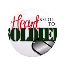 "Heart Belong to Soldier 3.5"" Button"