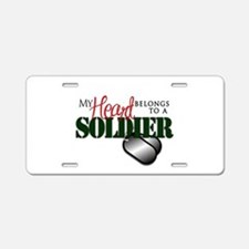 Heart Belong to Soldier Aluminum License Plate