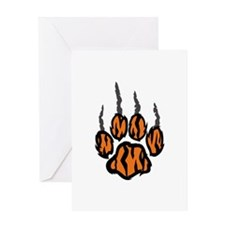 TIGER CLAW MARKS Greeting Cards