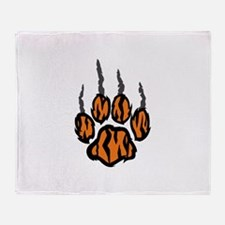 TIGER CLAW MARKS Throw Blanket