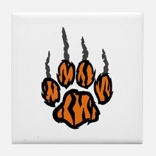 TIGER CLAW MARKS Tile Coaster